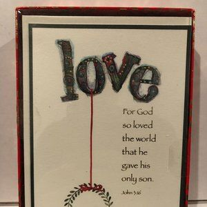 """Boxed Holiday Christmas Cards & Envelopes! """"Love"""""""